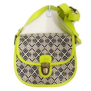 Aeropostale Neon Embroidered Crossbody Bag